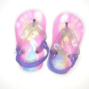 Girls Frozen Flip Flops Size 6
